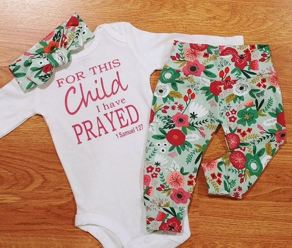 a3392911530 Baby Girl Going Home Outfit FOR THIS Child I have PRAYED