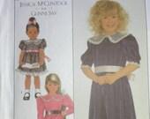 Jessica McClintock Pattern, Girls Ruffle Dress Size 6 (Cut Complete Original) Three Variations Mccall 39 s 8928