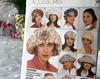 c90c8effc53 McCalls HAT SEWING Pattern Craft Patterns Uncut Original Misses Sewing 3044  3 Sizes