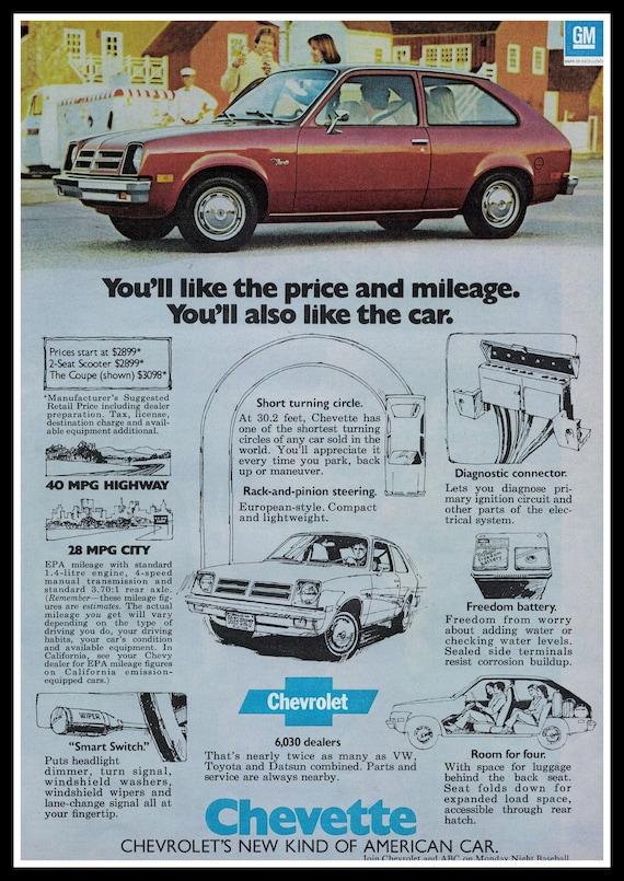 Vintage  1976 Chevrolet Chevette Auto Sales Brochure