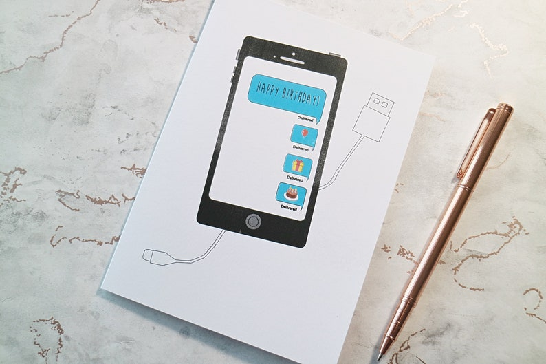 IPHONE Phone Gadget Greetings Card Techie All Thing