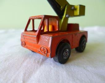 Truck crane Matchbox series number 42 Superfast 1969