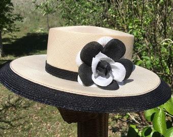 Vintage Hats Mr John Classic Bucket Hat White Bucket Hat Polka Dot Overlay
