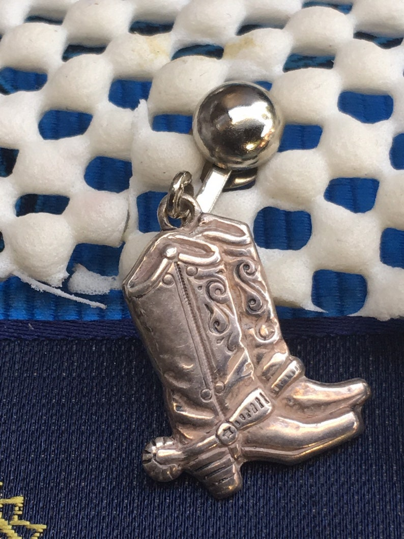 Cowgirl Boot Saddle Mismatched Clip on EarringsHorse Head Key Chain Charm with Lobster ClaspHorse Back RidingEquestrian Jewelry Set