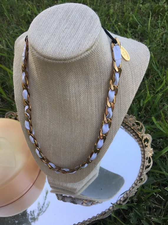 Vintage Cara Couture NY Chunky Gold Chain Link Nec