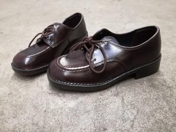 vintage deadstock kids shoes lace shoes 1960