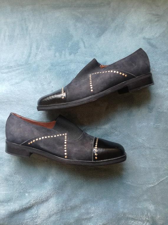 Vintage mens shoes 46 Meyer Amsterdam deadstock 1… - image 4