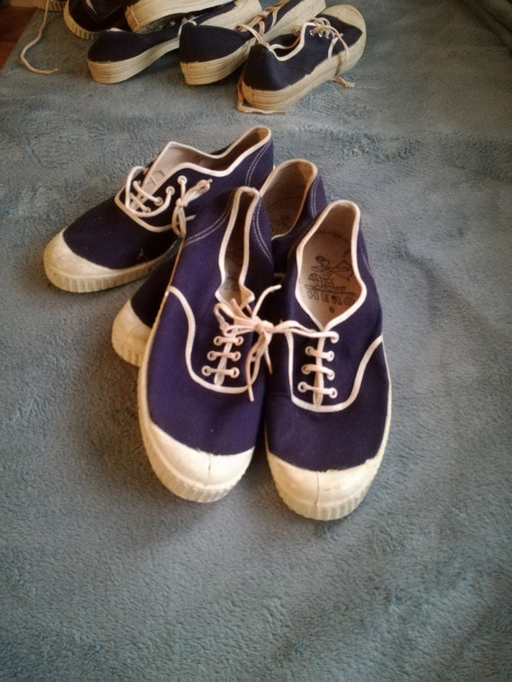 Deadstock canvas sports boat shoes 1970