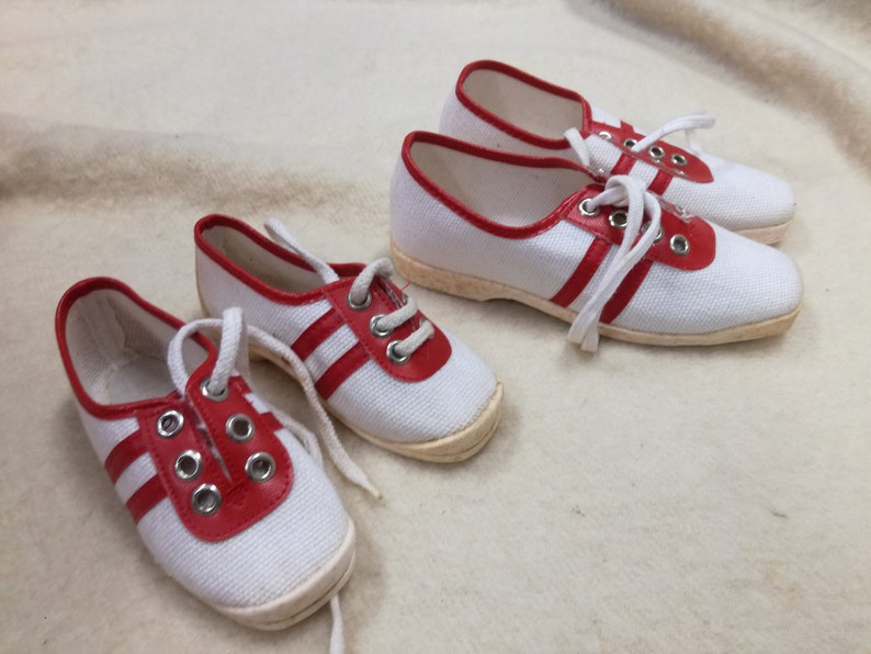1a10dd2e1d777 vintage deadstock 1960 kids toddler canvas shoes 1970 new old stock