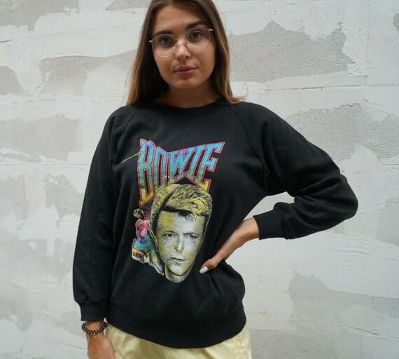 David Bowie vintage 1980s sweatshirt crewneck tour
