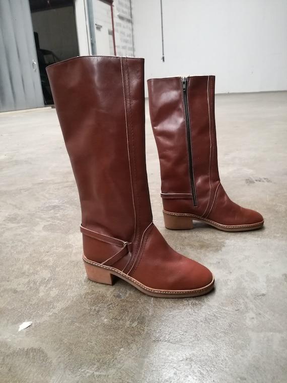 nouvelles de Bottes enfants stock chaussures vieilles deadstock 70s deadstock bottes 1970 vintage chaussures d'hiver XiTuOZkP