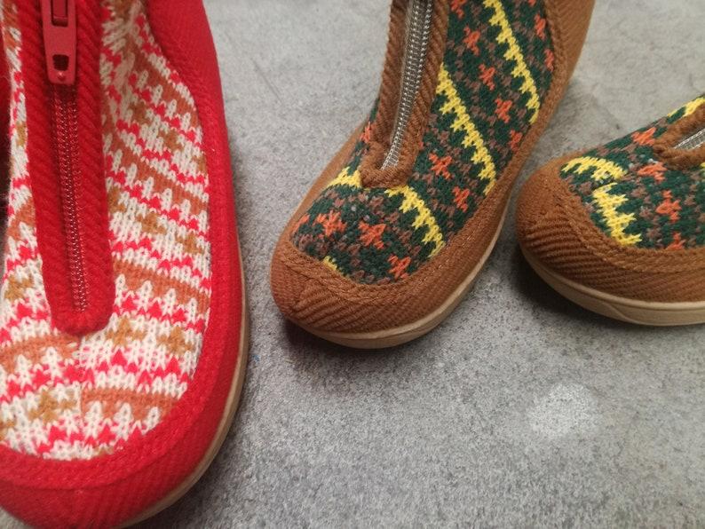 72dcb038a6b1d Vintage nos new old stock deadstock kids slippers indoor shoes unworn slip  ons