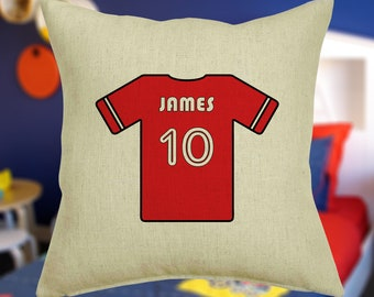 473a5febf Personalised Football Shirt Cushion Cover With Any Name Printed