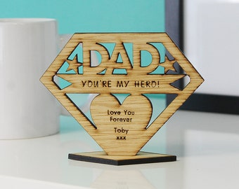 Personalised Dad Daddy Gifts Fathers Day Superhero Christmas Birthday Keepsake