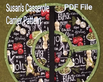 Susan's Round Insulated Casserole Carrier Download Pattern