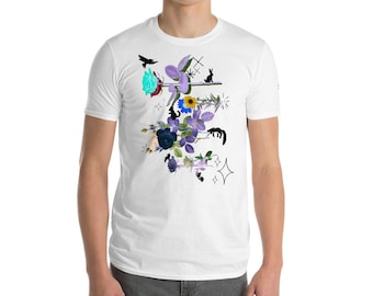 Paper Flower Pet Shop (white print) Short-Sleeve T-Shirt