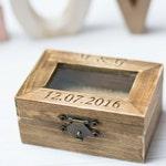 Personalized Glass Ring Box Rustic Wedding Ring Box Bearer Wooden  Ring Holder Wedding Ring Pillow Burlap Moss Wedding decoration