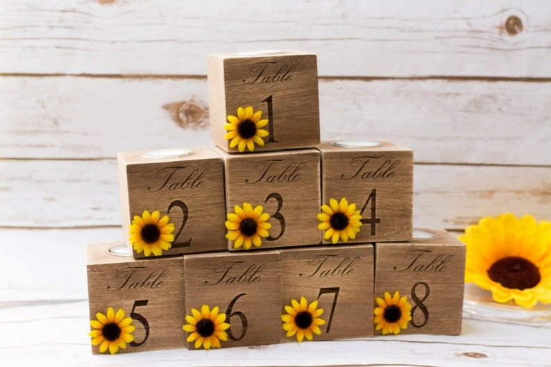 table numbers wedding Sunflower Wedding Centerpieces table image 0