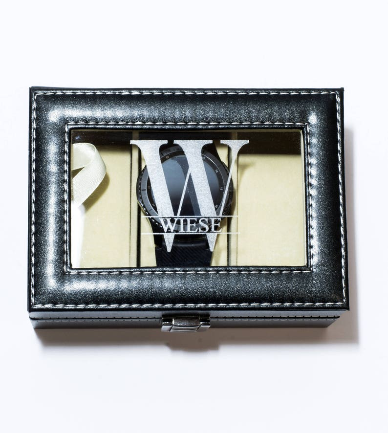 Xmas Gift Christmas Gift For Him Personalized Watch Box For Men Watch Case Name Watch Holder For Men Groomsmen Gift For Him