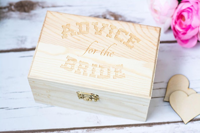 Rustic Wedding Advice for the Bride Box Best Wishes Box Bridal image 0