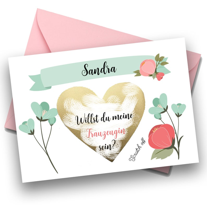 Bridesmaid Proposal Will you be my Bridesmaid Scratch Off Card image 0