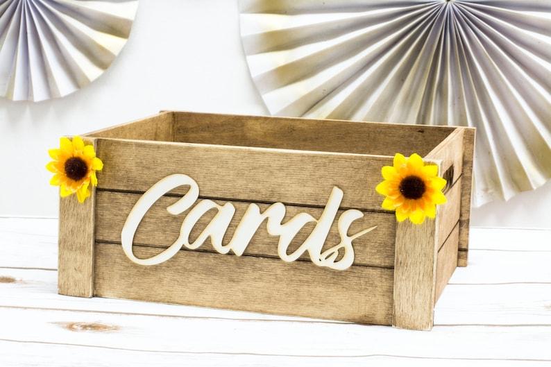 Card Box Rustic Mail Box Wedding Card Christmas Cards Box image 0