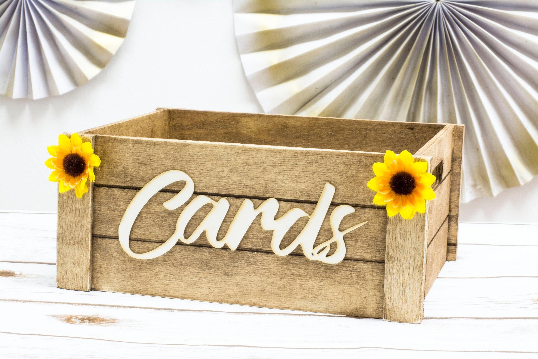 Sunflower Card Box Rustic Wedding Card Beach Box Wedding Decor | Etsy
