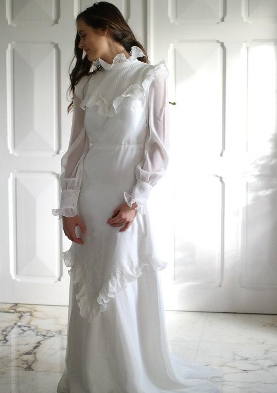 70s wedding dress