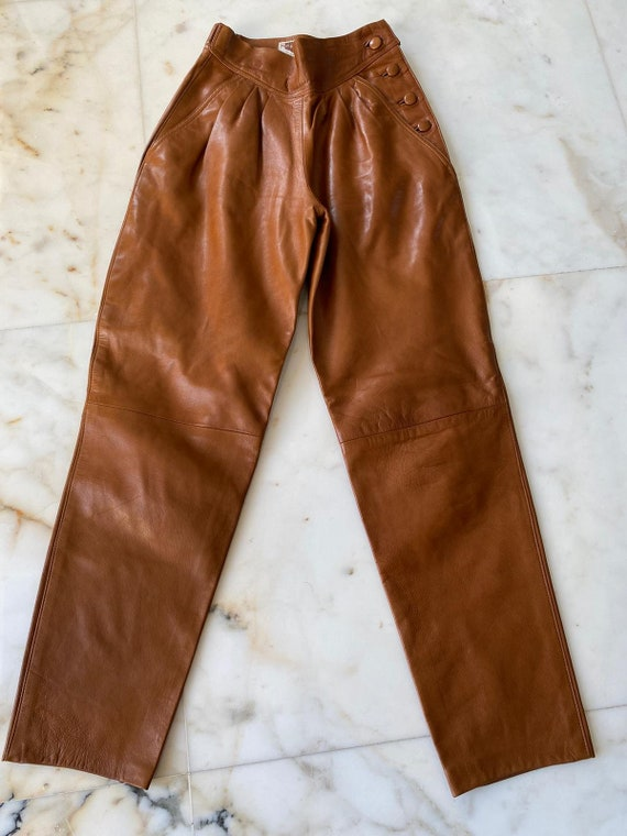 Manigance's 80s high-waisted leather trousers - image 4