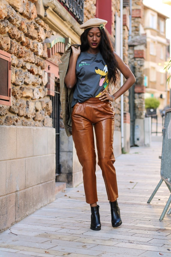 Manigance's 80s high-waisted leather trousers - image 1
