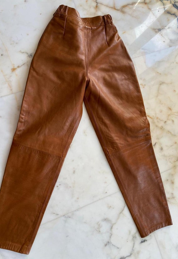 Manigance's 80s high-waisted leather trousers - image 5
