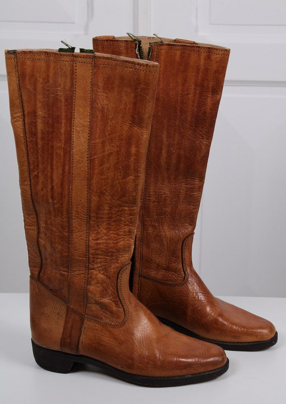 Real leather riding boots