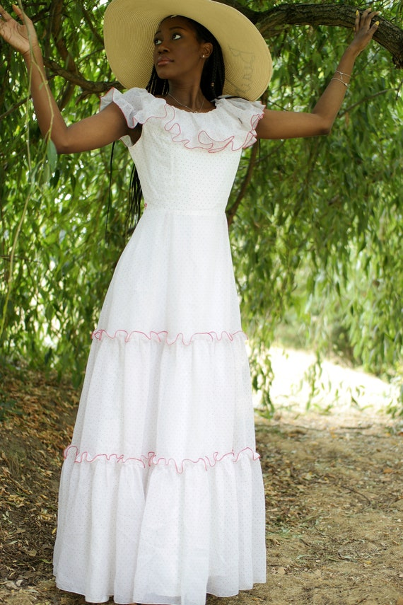 Vintage boho dress 70s
