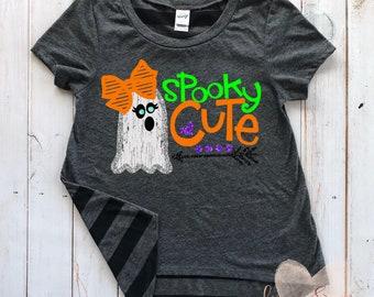 girls halloween shirt toddler halloween shirt girls spooky cute halloween shirt toddler girl ghost halloween shirt spooky cute shirt