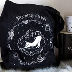 Cat Tote Bag | Witch Bag | Shoulder Bag | Weekender Bag | Book Lover Gift | Self Care |