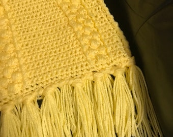 Yellow Afghan, Crocheted
