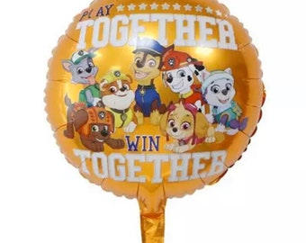 Marshall foil balloon marshal balloon Marshall character balloon paw patrol theme