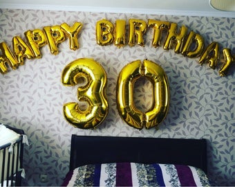 happy birthday gold foil balloon 16 inch