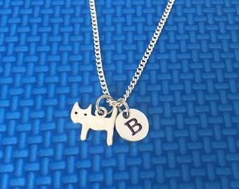 Cat necklace ,Jewelry, Silver Jewelry, kitten necklace, charm necklace CP37