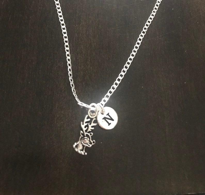 raindeer jewelry reindeer Chain christmas gift Silver Jewelry Rudolph reindeer necklace Jewelry