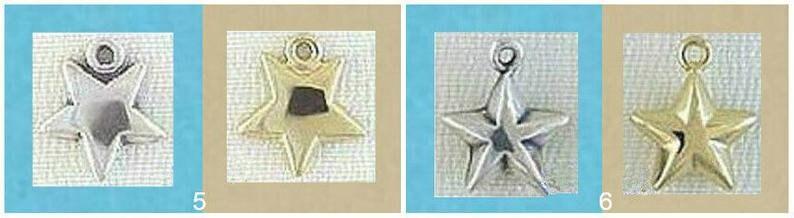 Shooting Star Pendant  6 Point 10 Point Star  Sun Star  Moon Star  Hand w Stars  Hammered Star  Lightning Bolt CHARM STERLING SILVER