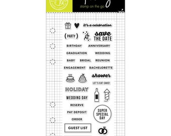 Kelly Purkey Planner Stamps Occasion Hero Arts Birthday Party CL921