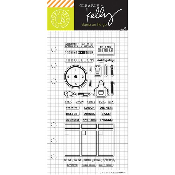 COOKING Kelly Purkey Planner Stamps Cooking