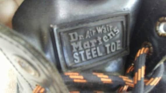 Vintage Doc Martins Leather Steel Toe Air Wair Pu… - image 2
