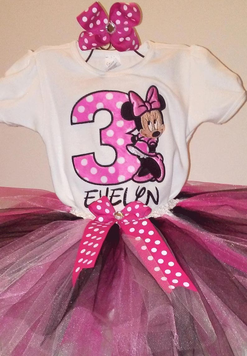 ed32ecb1230a7 Pink Minnie Mouse 3rd Birthday Outfit Pink Minnie Mouse Shirt Minnie Mouse  3rd Birthday Outfit Pink Minnie Mouse Shirt Pink Minnie Mouse