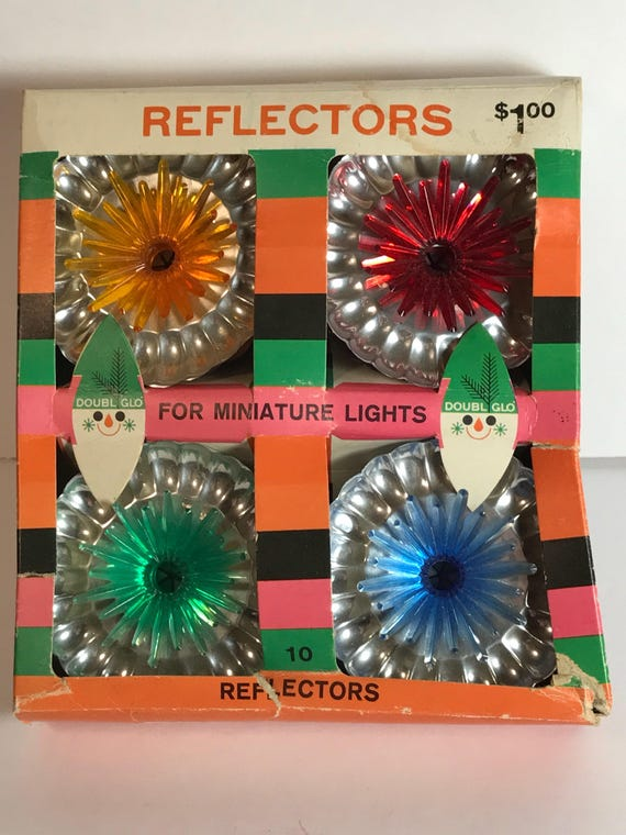 image 0 - Vintage Christmas Light Reflectors Etsy