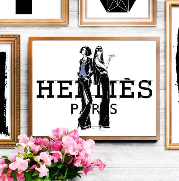 Hermes Inspiriert Mode Mädchen Illustration Hermes Druck Hermes Abbildung Hermes Hermes Kunst Wand Malerei Mode Illustration