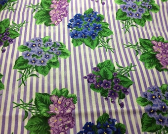 Flower of the month club fabric-February Violas #2029 by Ro Gregg.