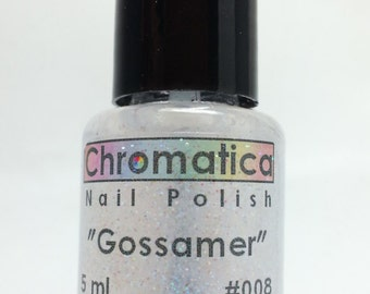Gossamer-Handmade Microfine, Multi-Colored Glitter Topper/Overlay Nail Polish, 5ml Mini Bottle, Indie Polish