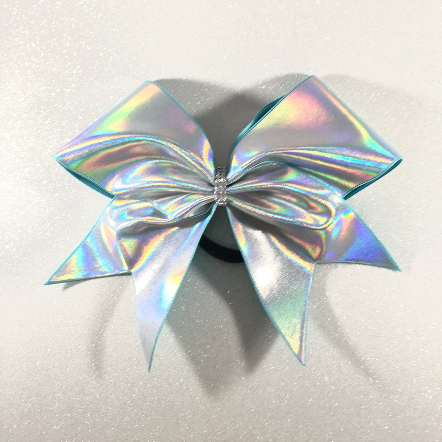 Holographic Silver Cheer Bow // Holo Cheer Bow // Plain Cheer